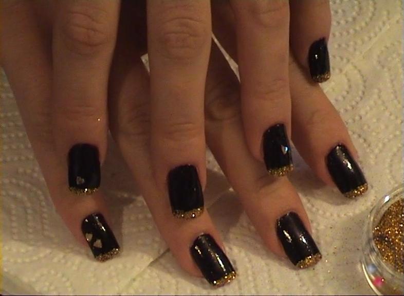 nokti glitter