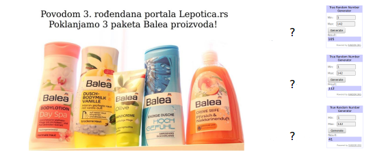 lepotica.rs nagradna igra