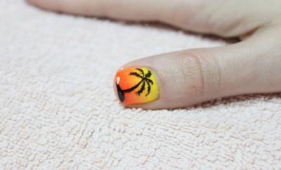 ombre manikir sa nail art palmom