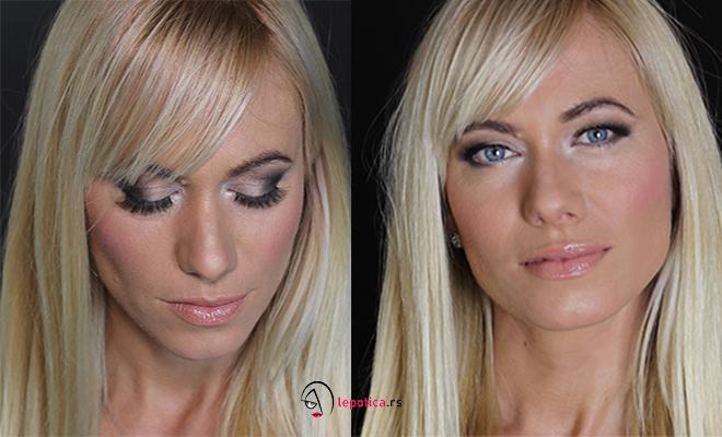makeup za plavu kosu