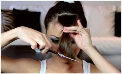 kako da ošišate kose šiške