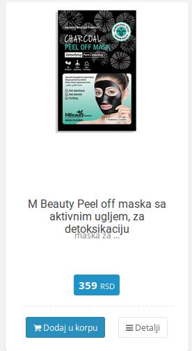 maska ugalj