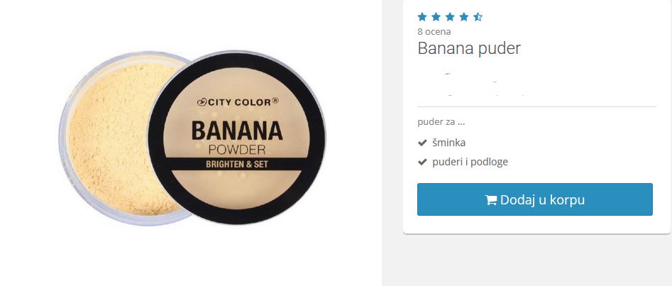 banana puder kupi