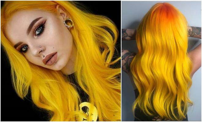 žuta kosa