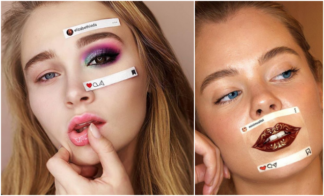 insta-ception make-up trend