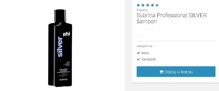 silver šampon