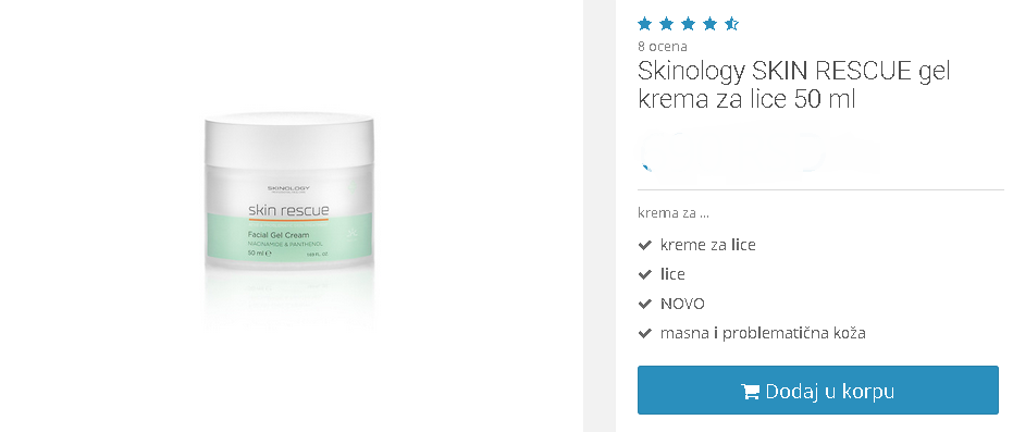 skinology skin rescue gel krema