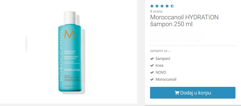 moroccanoil šampon za suvu kosu