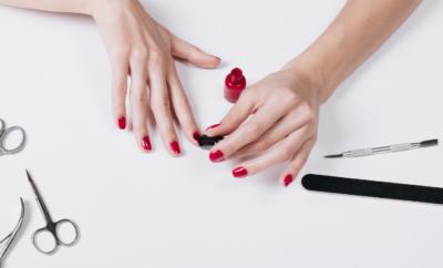 sušenje laka za nokte
