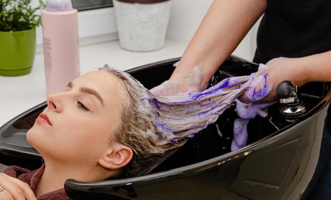ljubičasti šampon