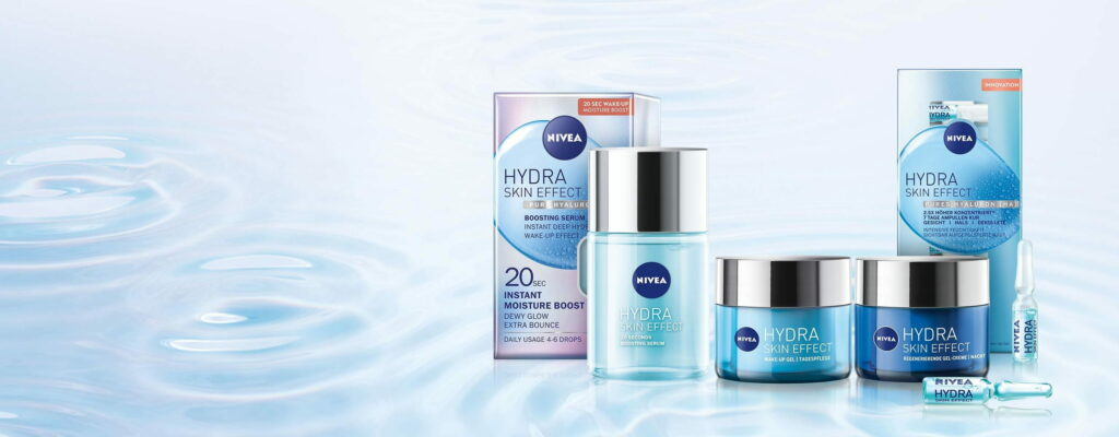 nivea hydra skin effect linija