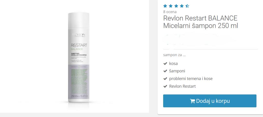 micelarni šampon