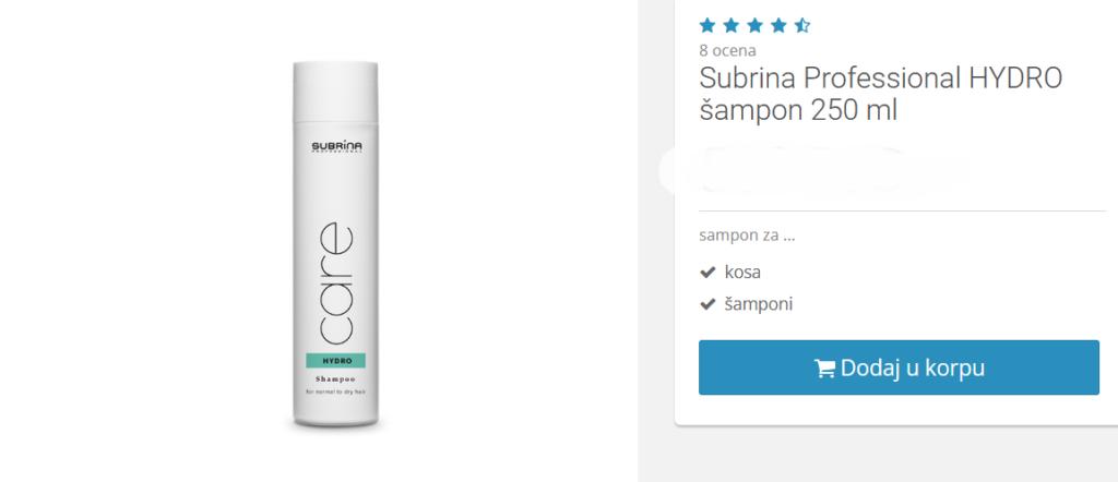 šampon sa hijaluronskom kiselinom